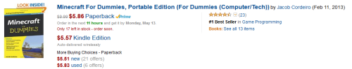 Student Book #1 in Game Programming at Amazon